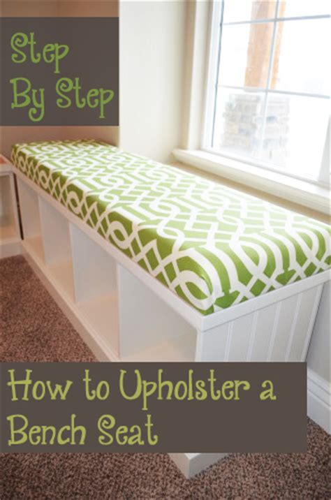 how to upholster a bench seat tutorial ikea decora