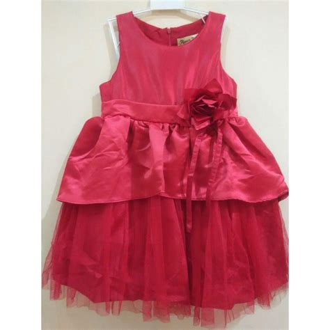Dress Import Anak Perempuan Cheongsam Imlek Dress Natal Dress Pesta Dress Cheongsam Dress Imlek