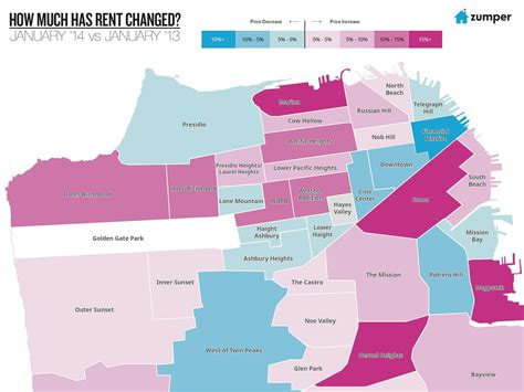 san francisco rental map san francisco rent map business insider