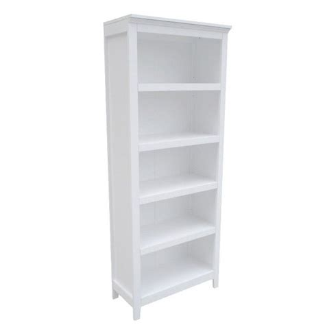 5 shelf white bookcase threshold carson 5 shelf bookcase white