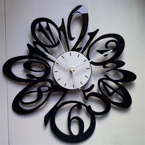 decorating inexpensive decorative wall clocks for contemporary in contemporary home decor 1 new 15 in large black number wall clock home room decor