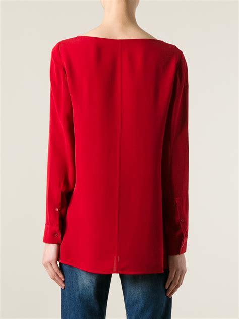 Rd Dress Anggun Toska lyst theory toska blouse in