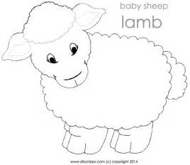 lamb sheep template printable jesus lambs shepherd