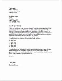 Employment Cover Letter Exle by Cover Letter Exles Sles Free Edit With Word