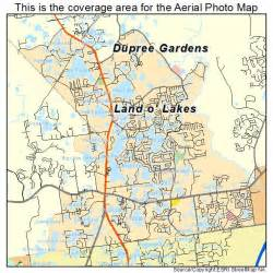 aerial photography map of land o lakes fl florida