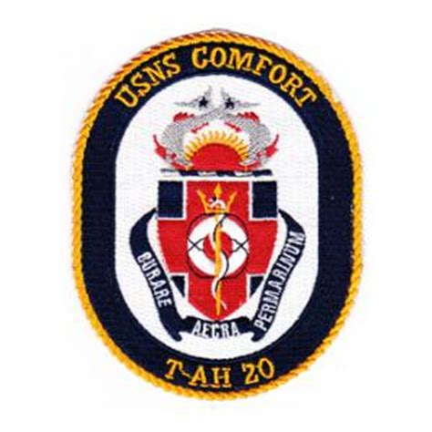 usn comfort usns comfort t ah 20 ship patch flying tigers surplus