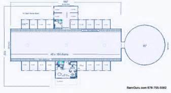 Large Horse Barn Floor Plans by Barn Plans 10 Stall Horse Barn Design Floor Plan
