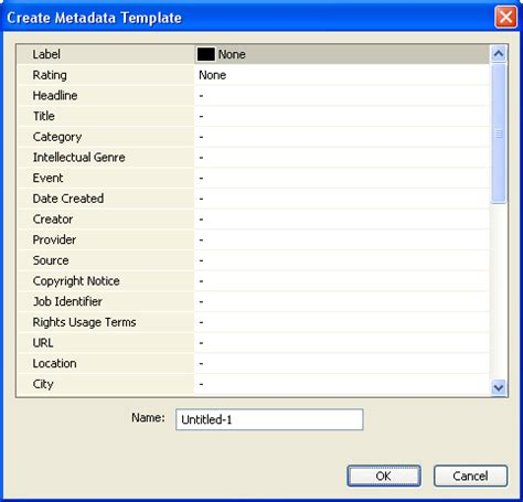 Creating Metadata Templates Photometadata Org Dialogue List Template