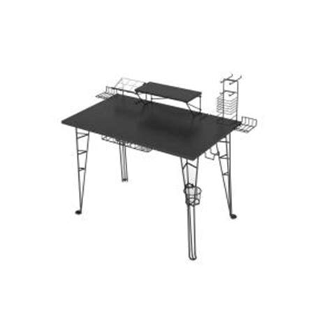 Atlantic Gaming Desk Atlantic Black Gaming Desk 33935701 The Home Depot