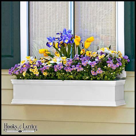 white window box 72in laguna fiberglass window box white