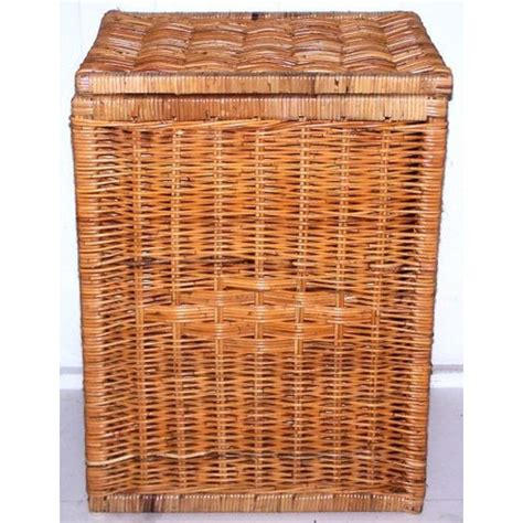 rattan laundry with lid rattan square laundry basket with lid temple webster