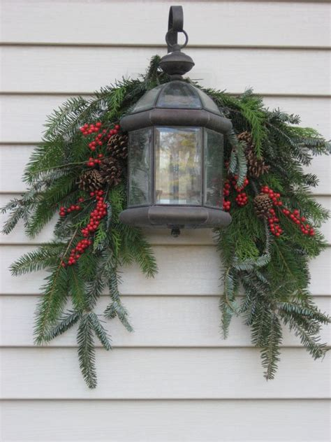 outdoor decor holiday and evergreen on pinterest