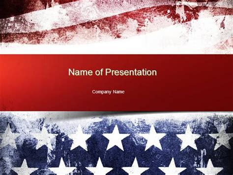 Painted American Flag Powerpoint Template Authorstream American Powerpoint Templates