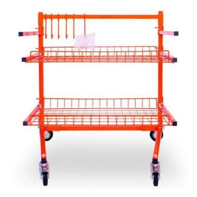 smash supplies :: panel stands :: parts cart with 2 shelves
