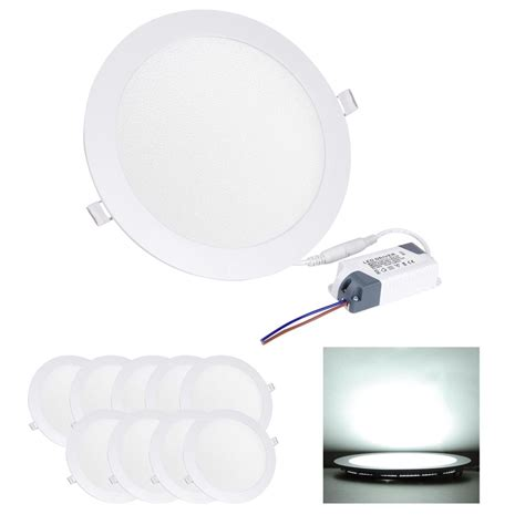 Led Recessed Ceiling Light 10 Led Recessed Ceiling Panel Light Bulbs 3w 9w 12w 15w 18w 22w 30w Ebay