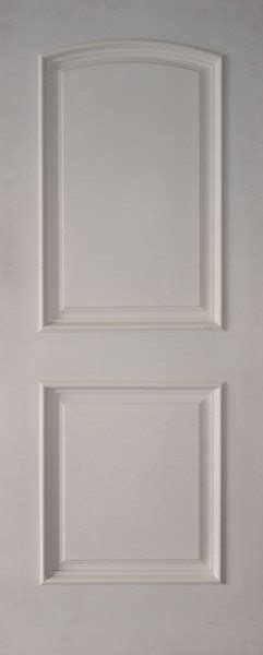 28x80 Interior Door by 2 Panel Arched Top White Primed With Moulding 4 One 18x80