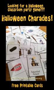 halloween themed charades shannon s tot school