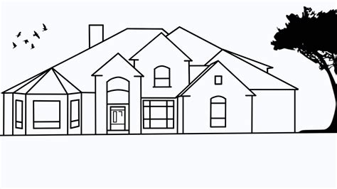 drawing house how to draw houses step by step