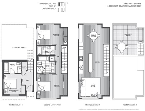 Contemporary Townhouse Plans by The Four Level Luxury Kits Blanc Vancouver Modern