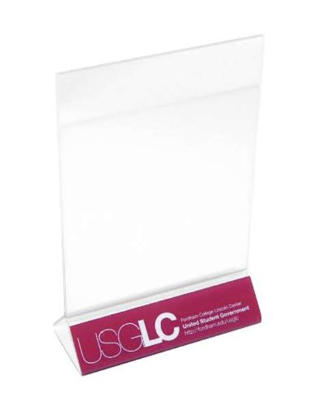 plastic table tents acrylic table tents acrylic restaurant table tents