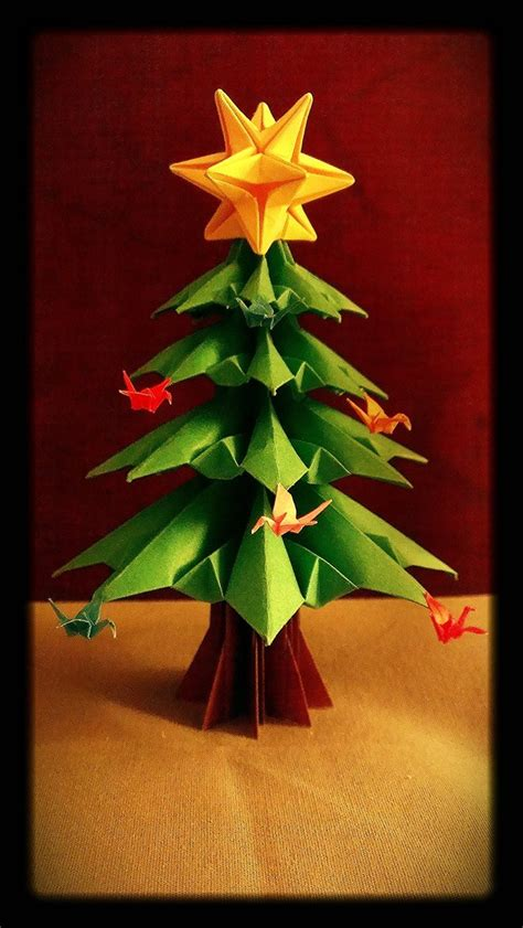 christmas tree paper folding origami tree by origamichemist on deviantart