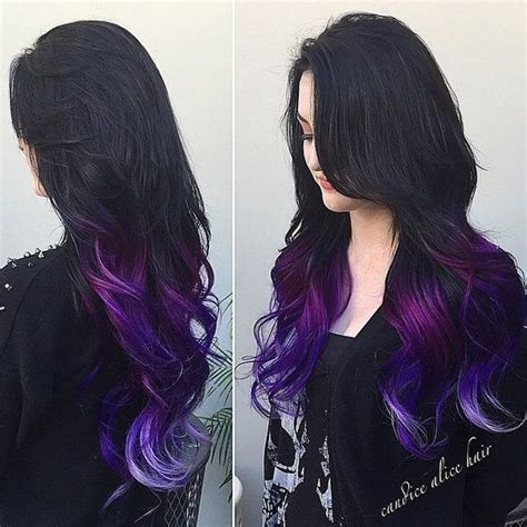 what purple hair dip dyed with black looks like angel of colour angel of colour websta webstagram