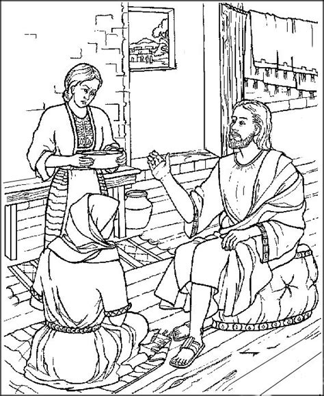 coloring page of mary anointing jesus feet 17 best images about catholic coloring pages for kids to