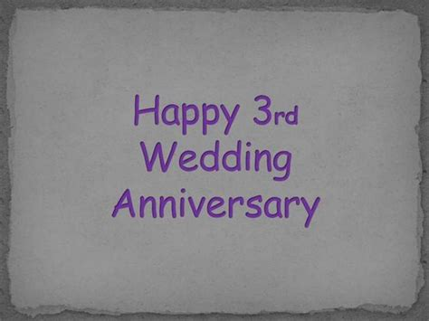 third wedding anniversary wishes greetings pictures wish guy