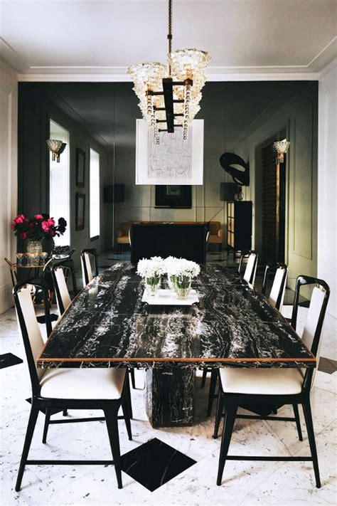 black marble dining room table london luxe in black white erika brechtel