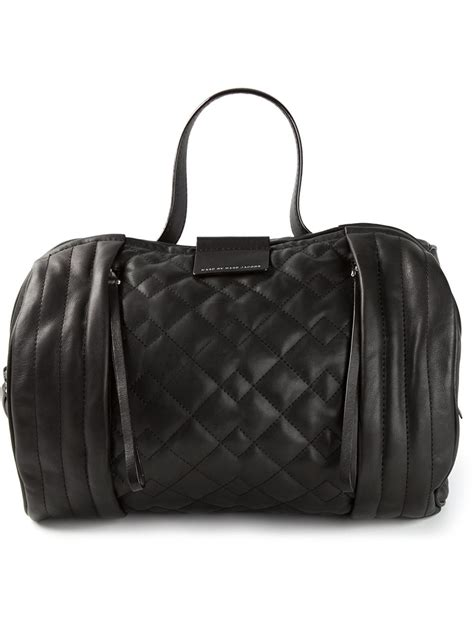 Marc Large Quilted Tote by Lyst Marc By Marc Moto Quilted Barrel Tote In Black
