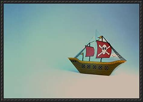 How To Make A Origami Pirate Ship - origami pirate ship template free