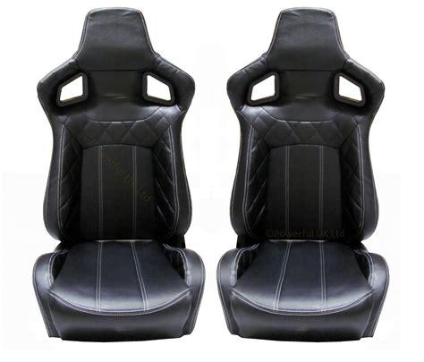 reclining bucket seats for sale heated black vinyl svx style reclining bucket seats land