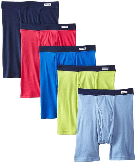 fruit of the loom boxer briefs comfort waistband fruit of the loom men s 5pk soft covered waistband boxer