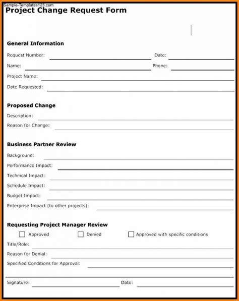 prince2 change request template project change order template pertamini co