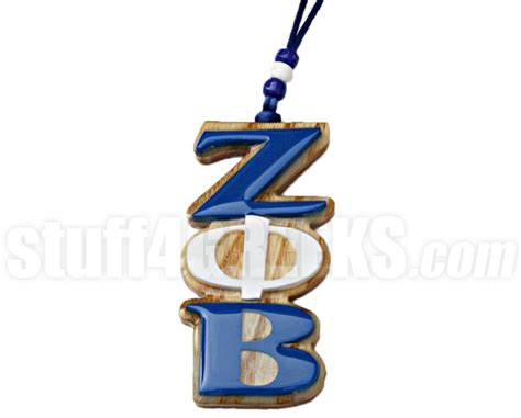 Zeta Phi Beta Letter Of Recommendation zeta phi beta letter tiki necklace wood