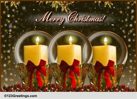 light christmas candles  merry christmas wishes ecards