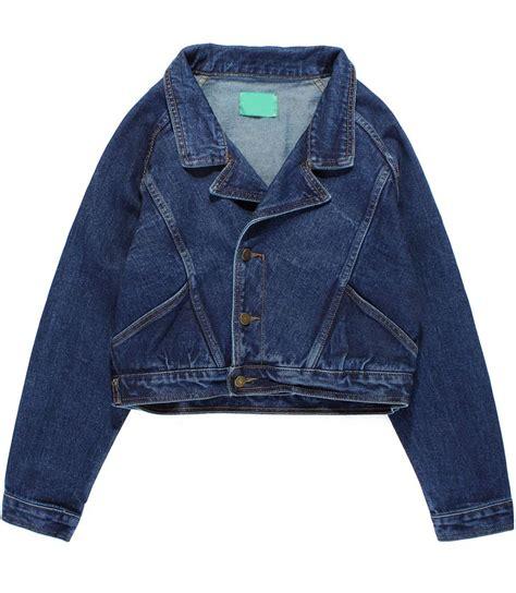 Lapel Denim Jacket navy lapel sleeve crop denim jacket sheinside
