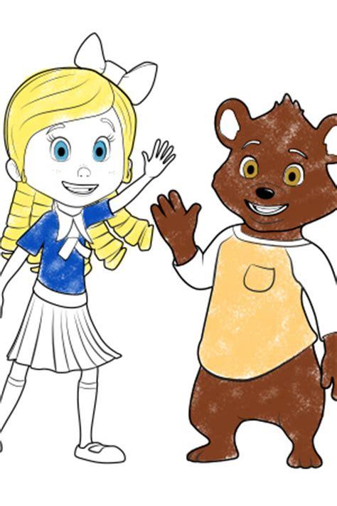 goldie bear coloring pages goldie bear disney junior uk