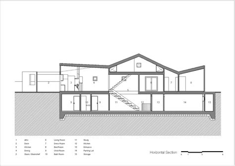 section drawing of a house aeccafe archshowcase