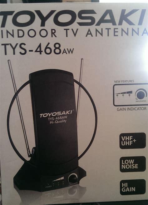 jual antenna tv indoor toyosaki tys 468aw booster sinyal