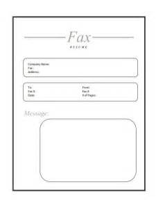 sle cover letter for fax how to fax resume