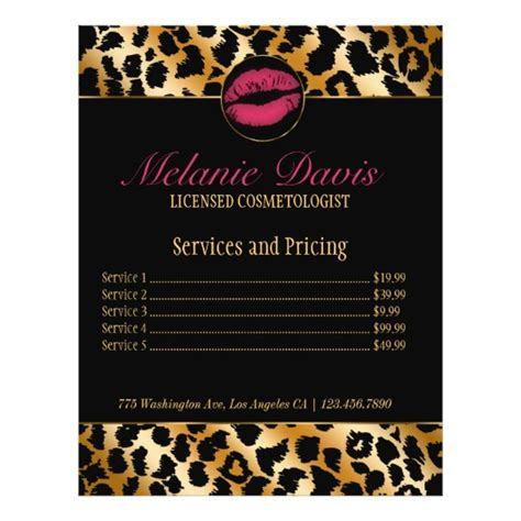 makeup artist flyers templates chic cosmetology makeup artist flyer zazzle