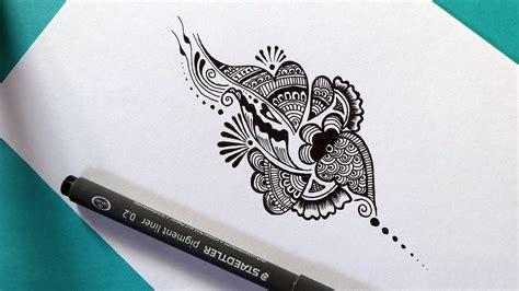 easy doodle design ideas easy henna mehndi design doodle