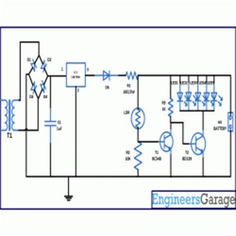 light emitting diode based automatic emergency light system ldr based automatic l circuit diagram