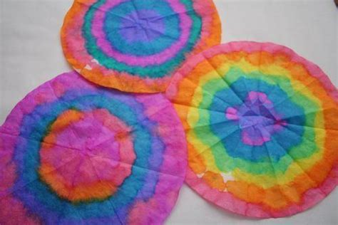How To Make Tie Dye Paper With Markers - colorful coffee filters tie dye effect flowers with do a