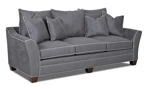 klaussner posen sofa klaussner posen contemporary sofa with block olinde