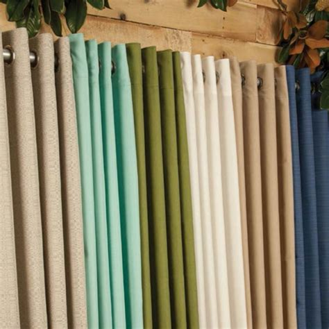 Sunbrella Curtains Patio Sunbrella Outdoor Curtain With Nickle Grommets