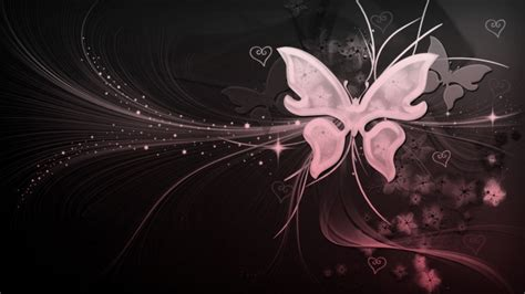 large wallpaper girly black white pink butterfly with hearts my quot girly