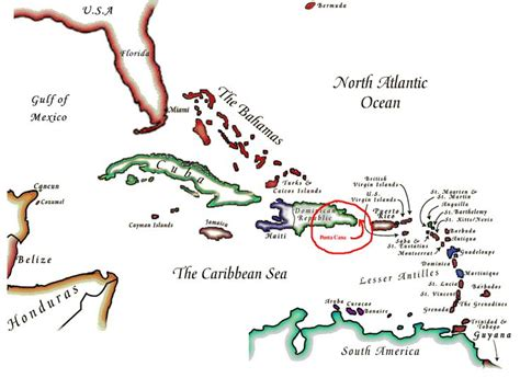 map of punta cana punta cana on the world map punta cana republic places to go the o