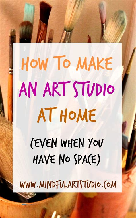 make home 12 ways to make an art studio at home